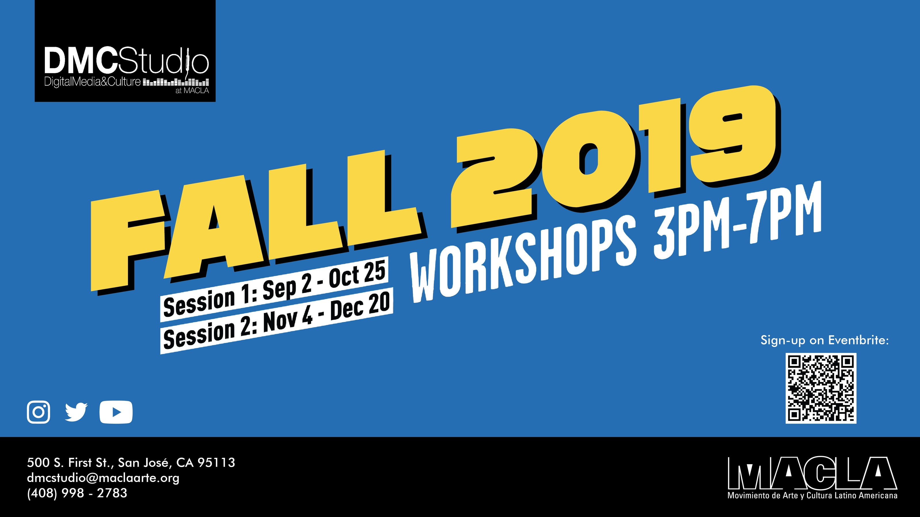 Sign-up for our Fall 2019 workshops.