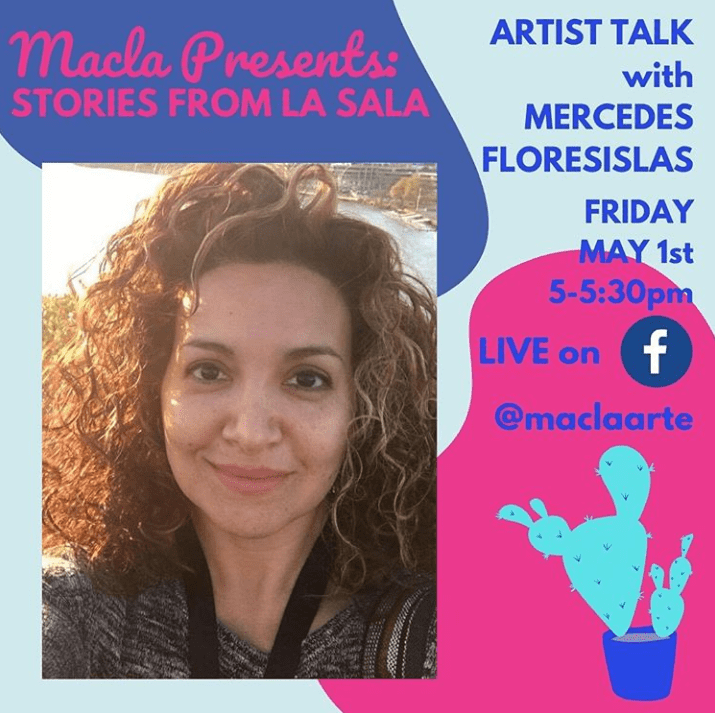 Artist Talk May 1st with Mercedes Floresislas
